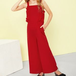 Other -  NWT Girls Ruffle Trim Jumpsuit